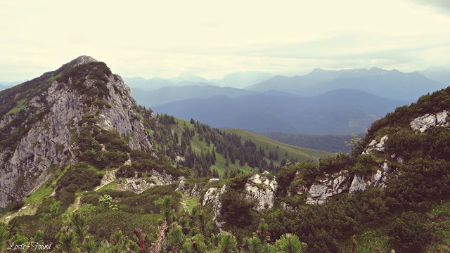 A view of a rocky mountain