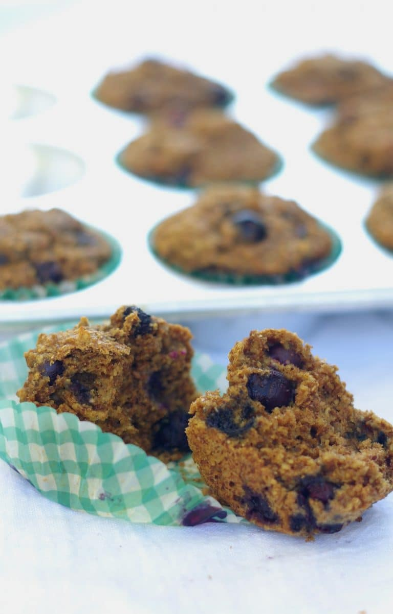 bran muffins with blueberries