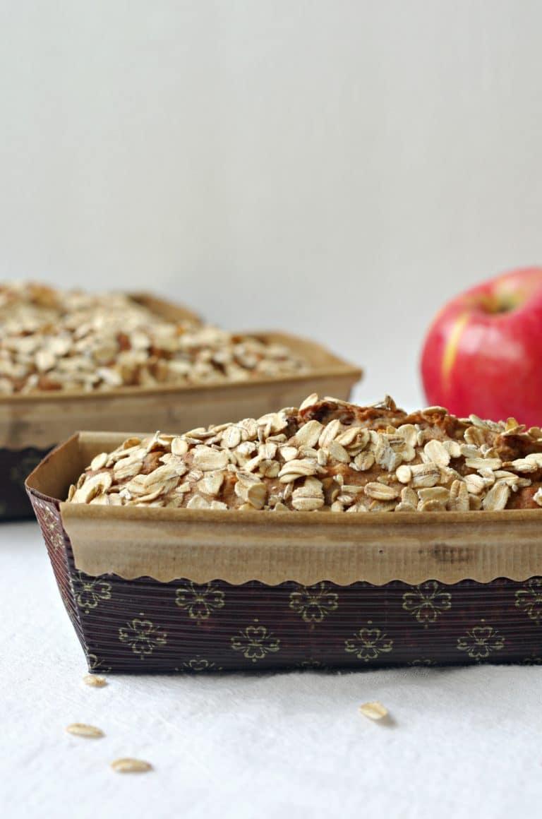 front view of Apple Cinnamon Oatmeal Bread loafs