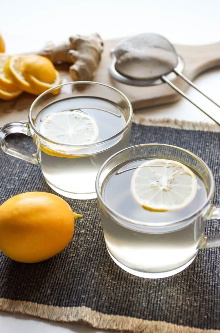 two mugs of Lemon Ginger Tea