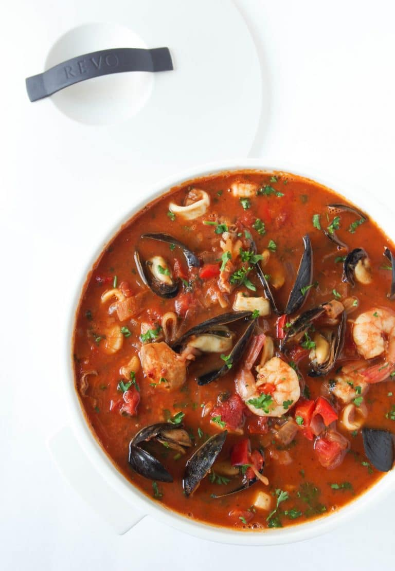 Cioppino Seafood Stew With Mashed Potatoes The Forked