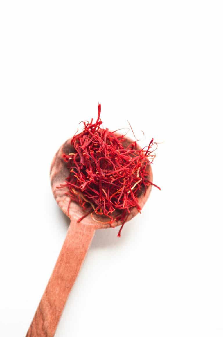 spoon of saffron