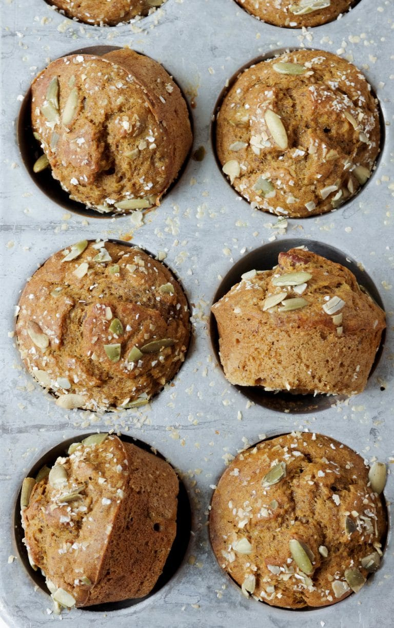 close up of Pumpkin Banana Muffins
