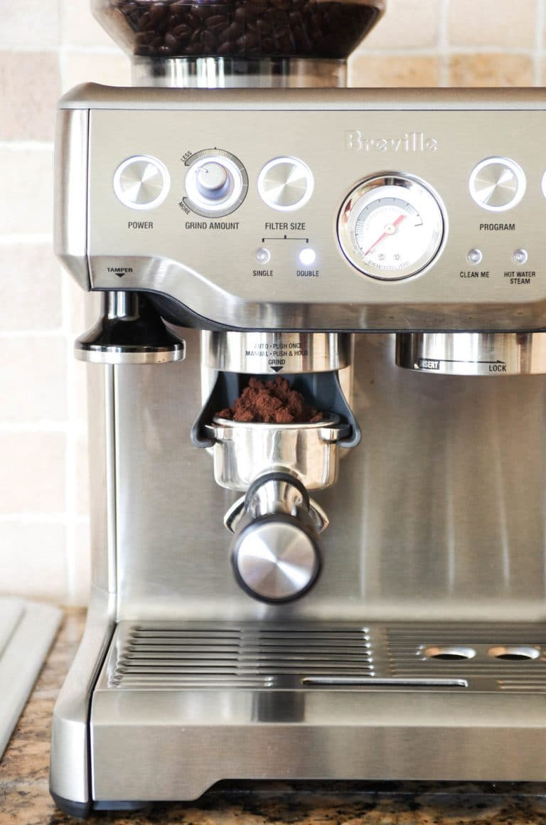 Breville Barista Express done grinding espresso