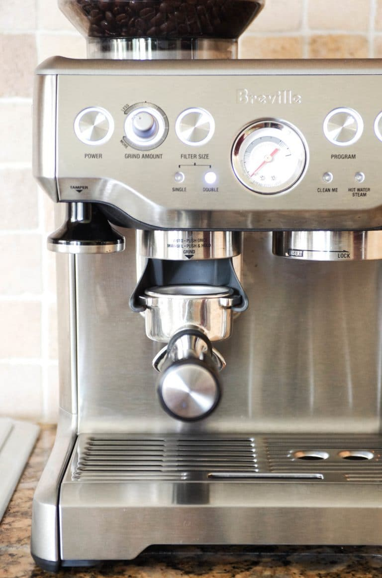 Breville Barista Express turned on