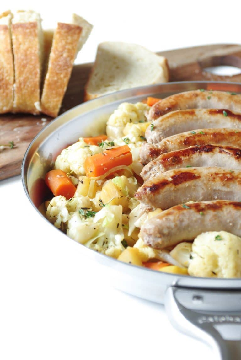 Irish Bangers and Vegetable Skillet