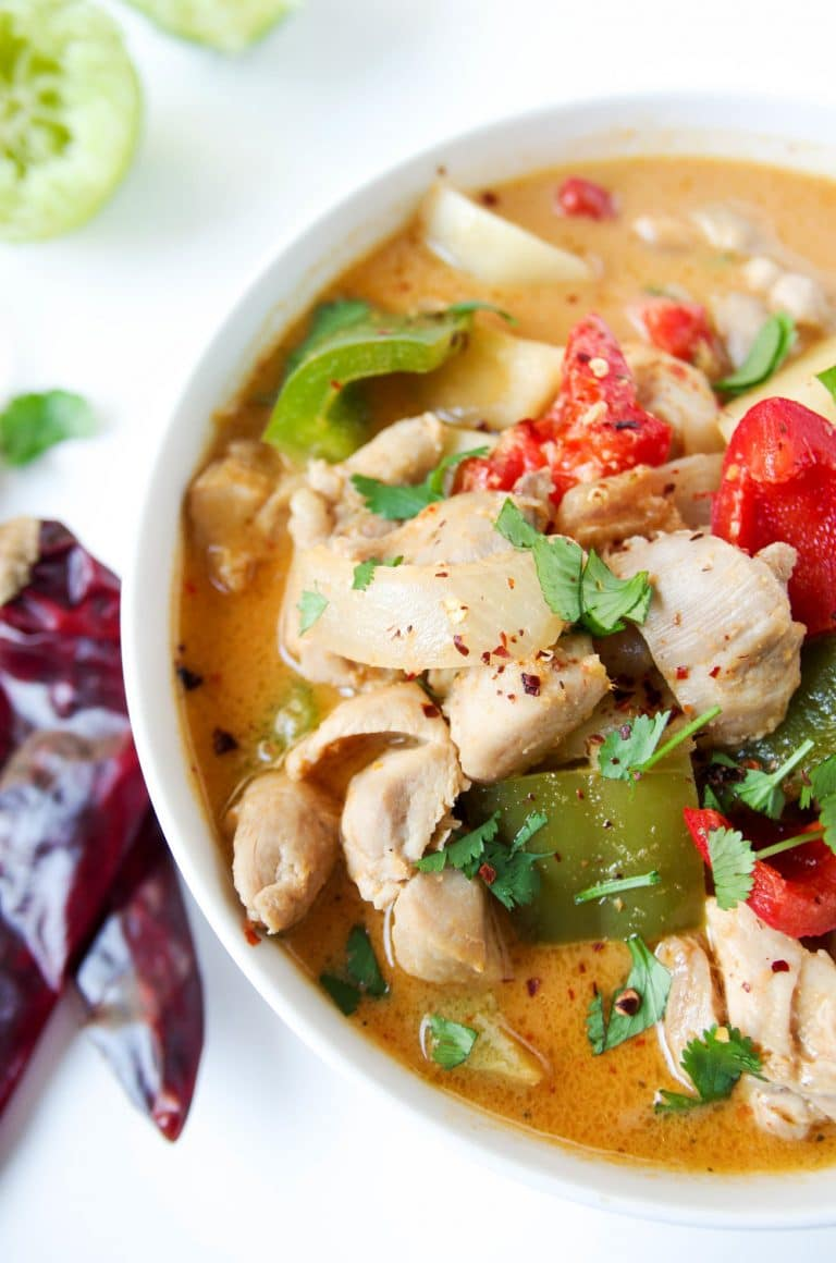 bowl of Thai Red Curry with Chicken