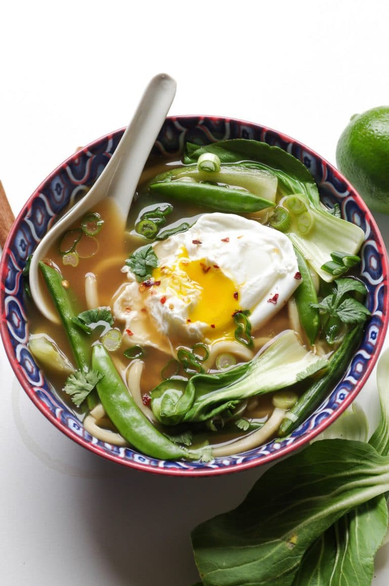 Udon Noodle Soup with Bok Choy and Poached Egg - The ...