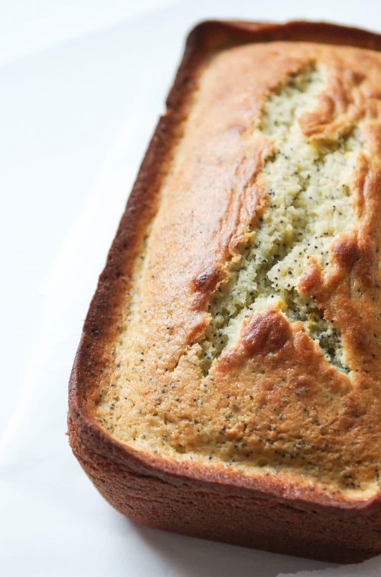 loaf of Lemon Poppy Seed Bread