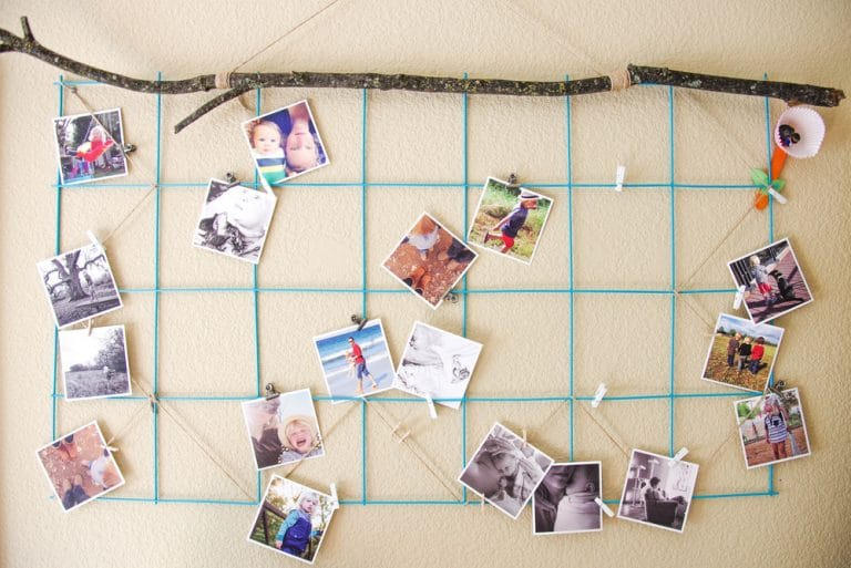 DIY Instagram Photo Display: Wall Grate