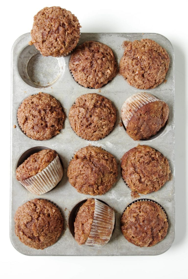 muffin pan with Healthier Cinnamon Apple Muffins
