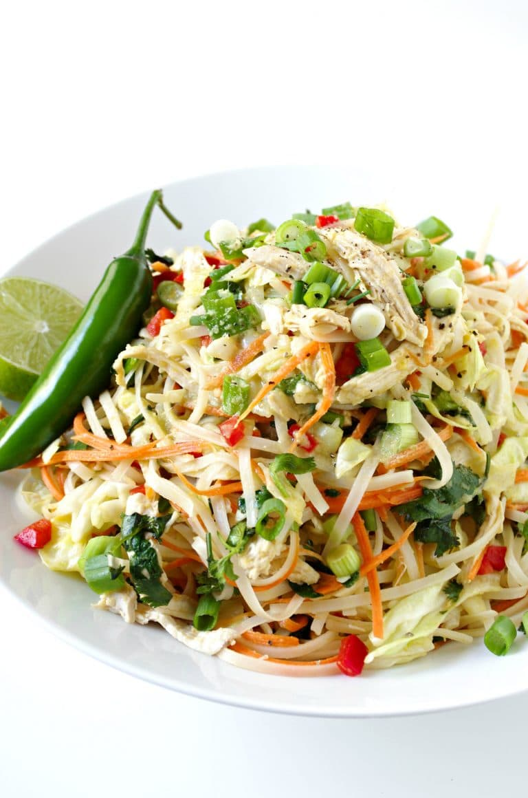 plate of Vietnamese Chicken Salad