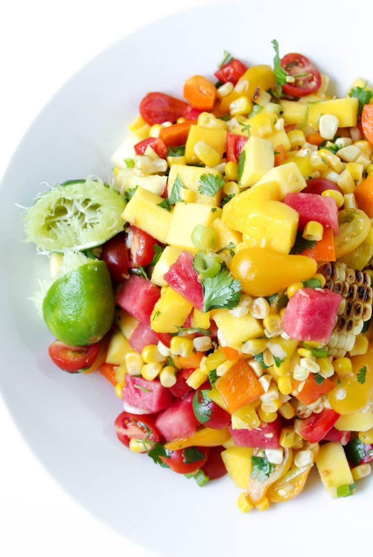 Mango, Watermelon and Corn Salad