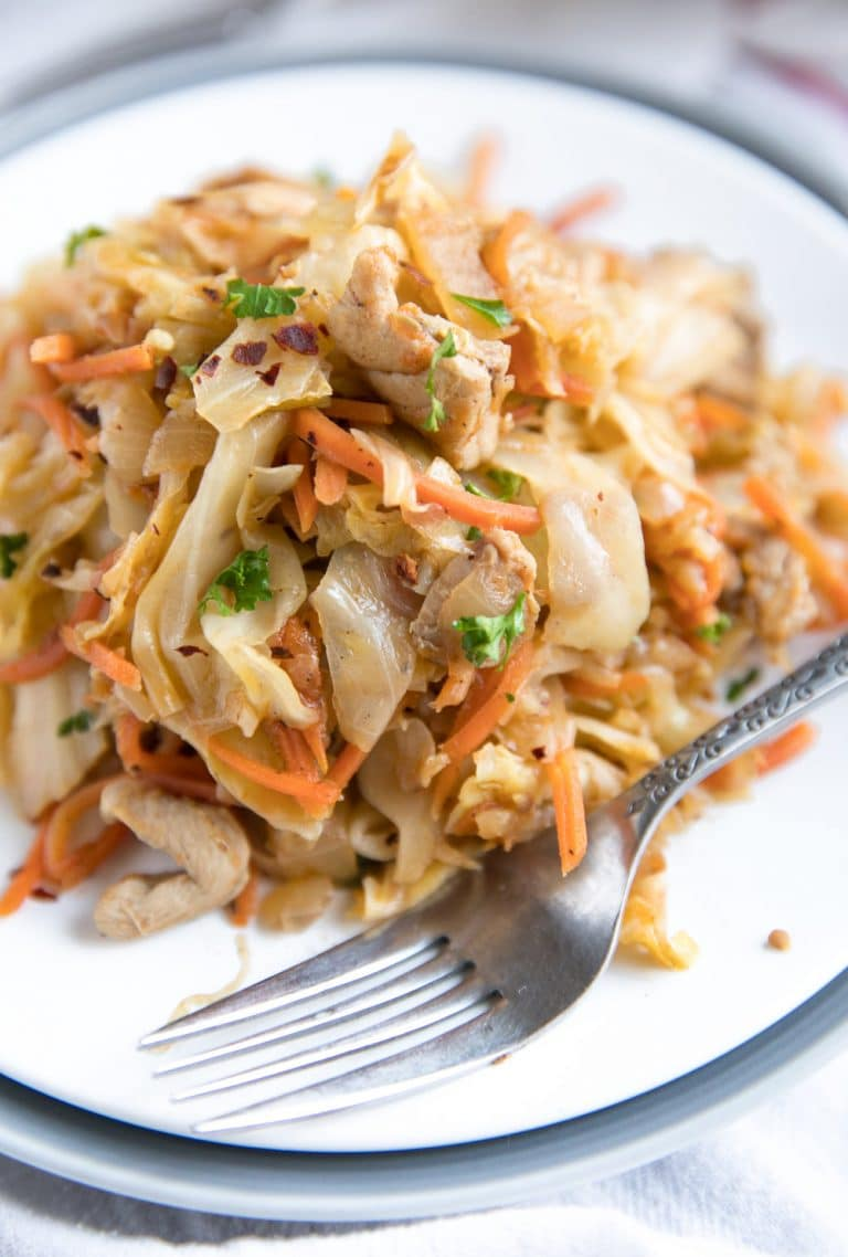 Sautéed Chicken and Cabbage Skillet