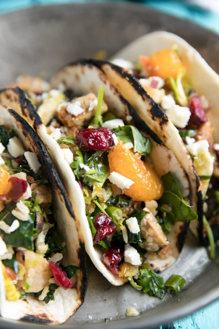 Vegetarian Kitchen Sink Tacos with Tempeh